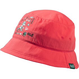 Jack Wolfskin Supplex At Home Bucket Cap Kids, tulip red